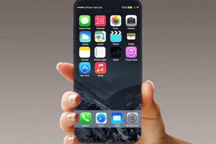 Gambar rekayasa digital iPhone 8.