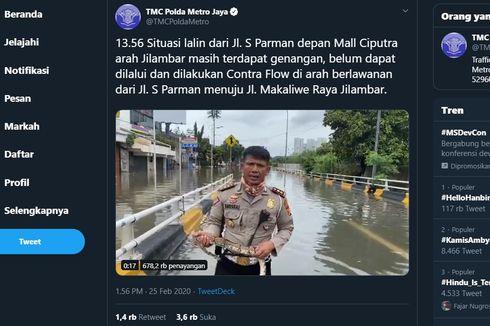 Viral Polisi Bawa Ular Sembari Laporkan Banjir Jakarta, Ini Penjelasannya...