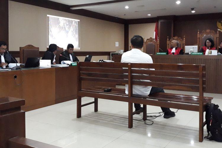 Panitera pengganti Pengadilan Tipikor Medan, Helpandi bersaksi di Pengadilan Tipikor Jakarta, Kamis (7/2/2019).