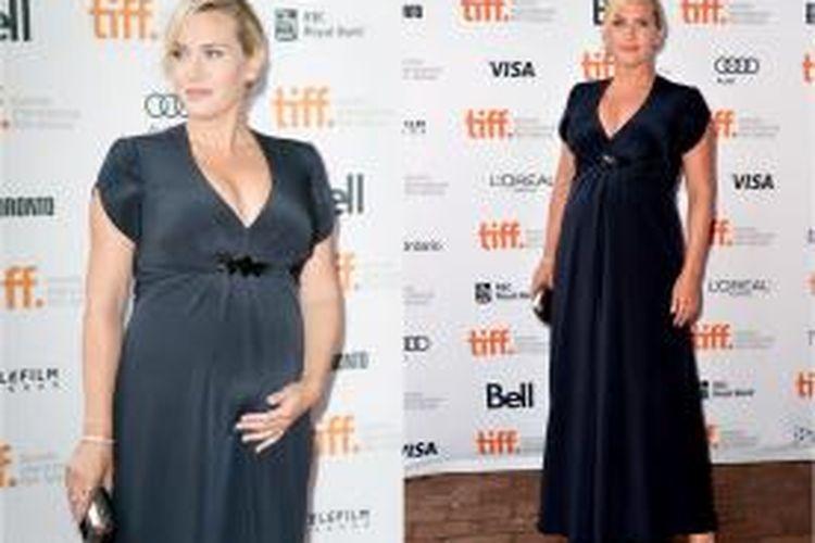 Kate Winslet menunjukkan kehamilannya di acara International Film Festival di Kanada.