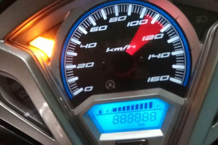Ilustrasi kecepatan yang ditunjukkan oleh speedometer