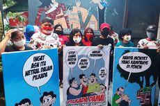 Lewat Karikatur, Relawan Gibran Ajak Semua Elemen Wujudkan Pilkada Solo Damai