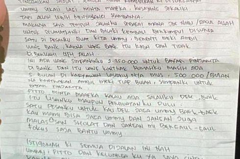 Beredar Surat Wasiat Pelaku Bom Bunuh Diri di Secarik Kertas, Ini Kata Polisi