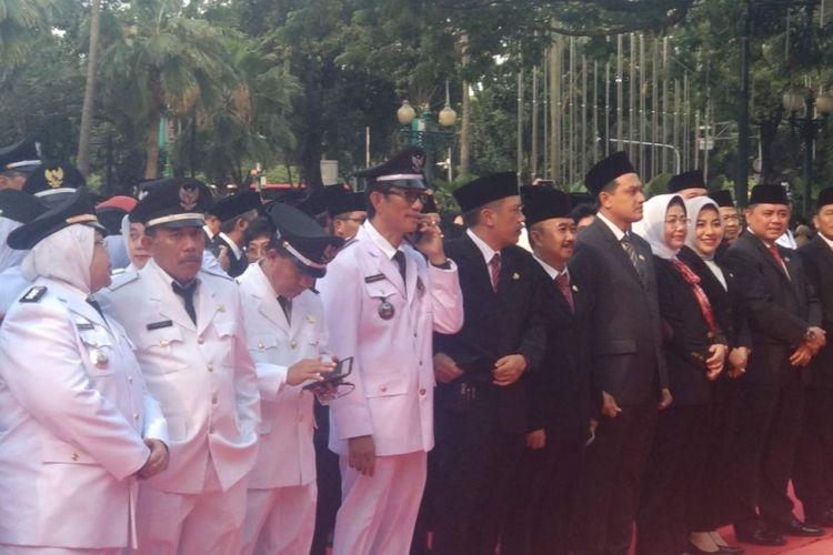 Pelantikan pejabat di Balai Kota DKI Jakarta, Senin (25/2/2019).