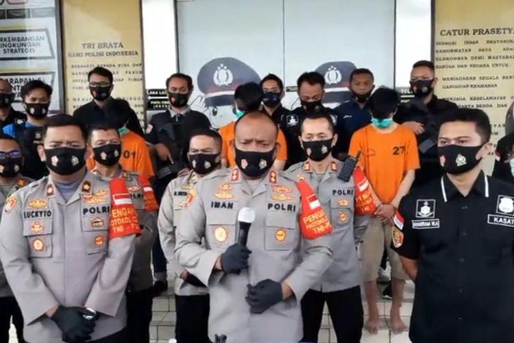 Kapolres Tangerang Selatan AKBP Iwan Setiawan saat konferensi pers di Mapolres Tangerang Selatan, Selasa (11/8/2020)