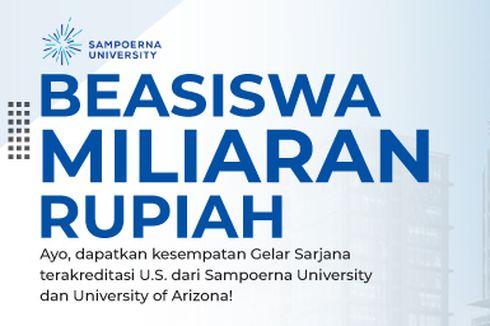 Sampoerna University Buka Beasiswa S1 Tahun 2022, Bebas Biaya Kuliah