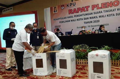 Hasil Rapat Pleno KPU, Paslon Gibran-Teguh Unggul Telak di Pilkada Solo 2020