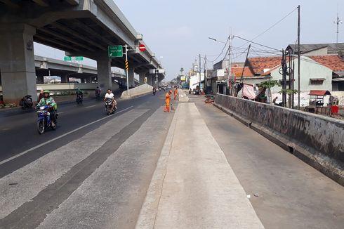 Pemprov DKI: Trotoar di Tengah Jalan Kalimalang Dibangun Operator Tol Becakayu