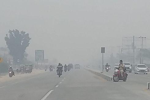 Korban Kabut Asap Manfaatkan Pengobatan Gratis dari Polantas di Pekanbaru
