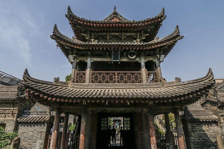 Ilustrasi masjid - Masjid Raya Xian yang merupakan masjid tertua di Xian, China. Masjid dibangun pada masa Dinasti Tang.