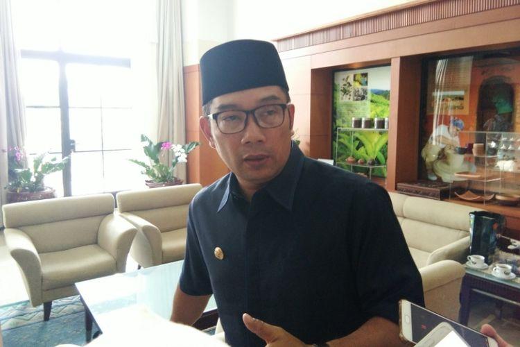 Gubernur Jawa Barat Ridwan Kamil saat ditemui di Gedung Sate, Jalan Diponegoro, Senin (8/10/2018).