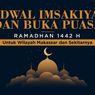 INFOGRAFIK: Jadwal Imsak dan Buka Puasa Makassar Ramadhan 1442 H
