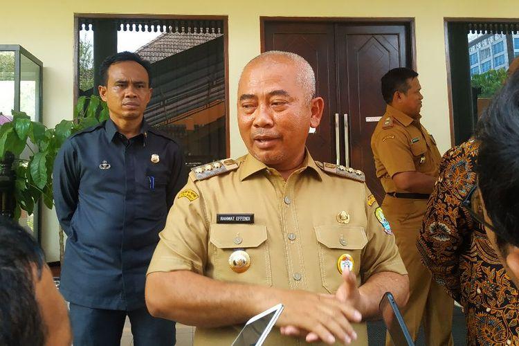 Wali Kota Bekasi Rahmat Effendi dalam konferensi pers di kantornya, Selasa (5/11/2019).