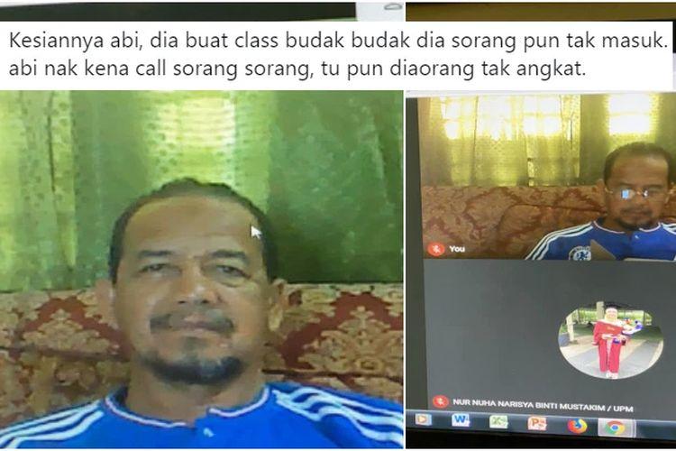 Guru di Malaysia senang akhirnya bisa buat kelas di Zoom, tapi tak ada murid yang hadir.