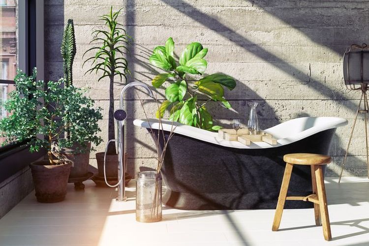 Kamar mandi modern.