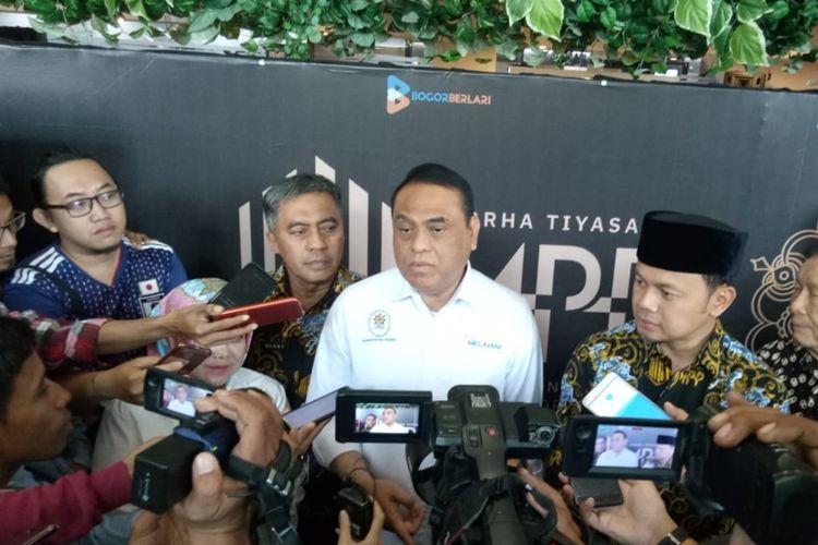 Menteri Pendayagunaan Aparatur Negara dan Reformasi Birokrasi (Menpan RB) Syafrudin saat diwawancara usai meresmikan Mall Pelayanan Publik (MPP) Kota Bogor, di Lippo Plaza Kebun Raya, Senin (26/8/2019).