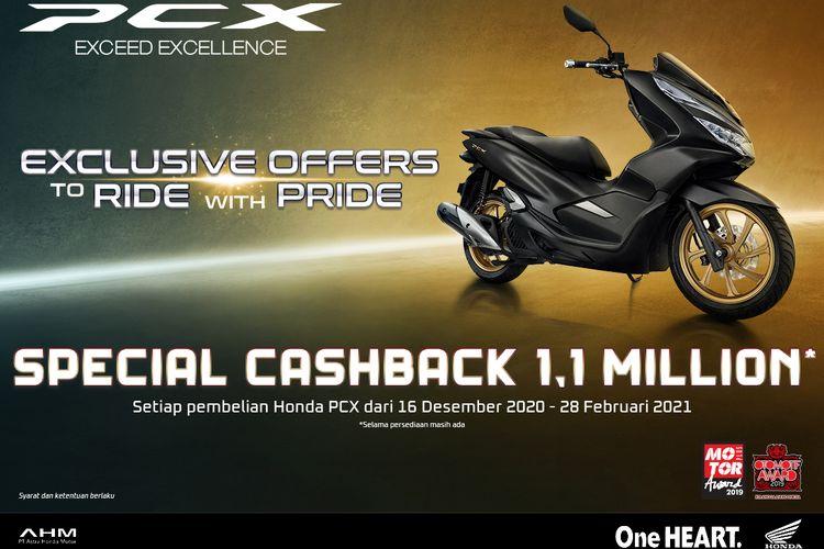 Promo Honda PCX 150 dari AHM.