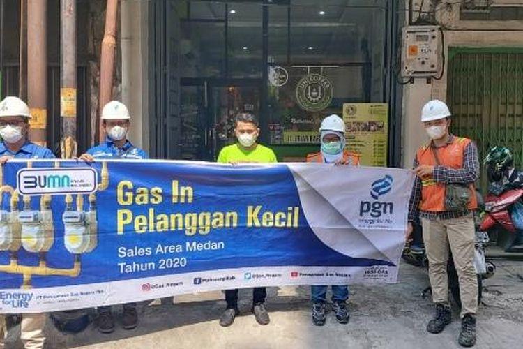 PGN Area Medan perluas penggunaan gas bumi kepada pelanggan kecil.