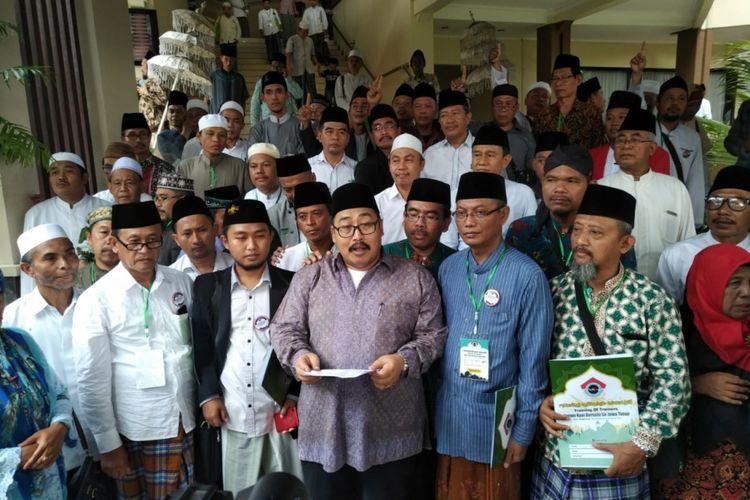 Ratusan kiai pesantren di Jatim deklarasi dukung Jokowi-Maruf Amin, Rabu (30/1/2019).