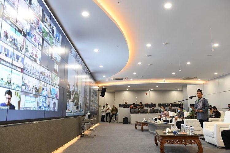 Halal bihalal virtual pegawai Kementan di Agriculture War Room, Kantor Pusat Kementan, Selasa (26/05/2020).