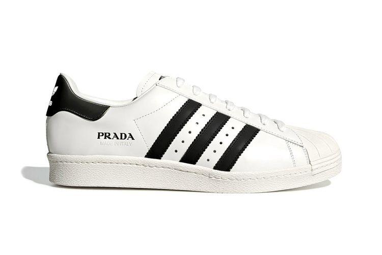 Salah satu colorway sneaker Adidas varian Superstar, yang disebut sebagai buah kolaborasi terbaru Prada x Adidas.