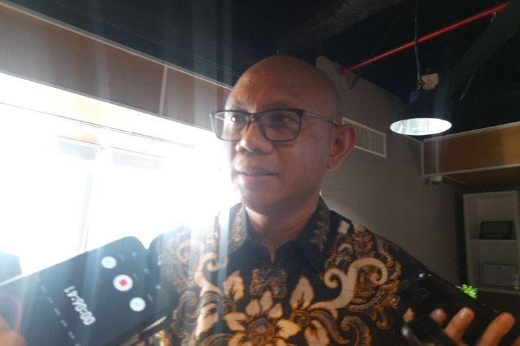 Direktur Utama PT MRT Jakarta William P Sabandar saat pemaparan di Kantor PT MRT Jakarta, Gedung Wisma Nusantara, Jakarta Pusat, Kamis (27/2/2020)
