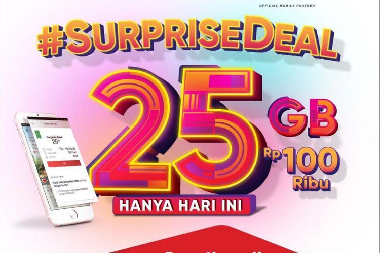 Promo Super Deal Telkomsel, kuota 25 GB harga Rp 100.000.