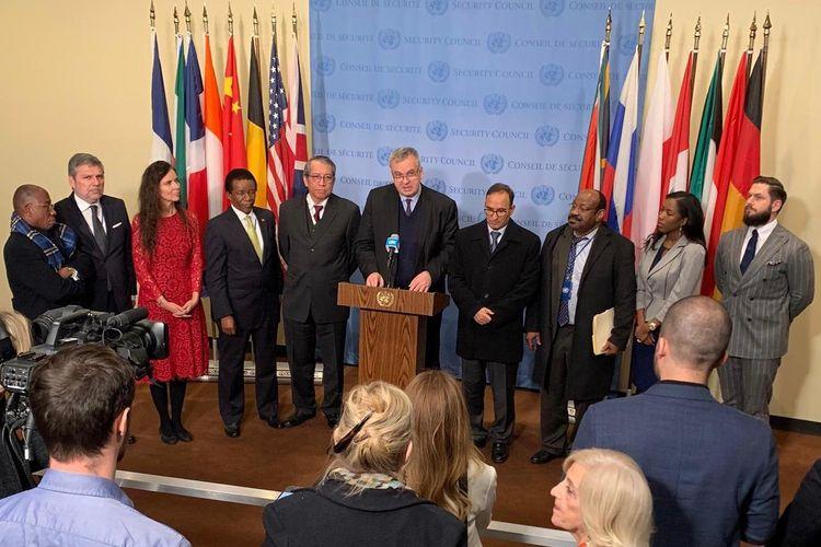 Pertemuan DK PBB Palestina di New York, Rabu (20/11/2019).
