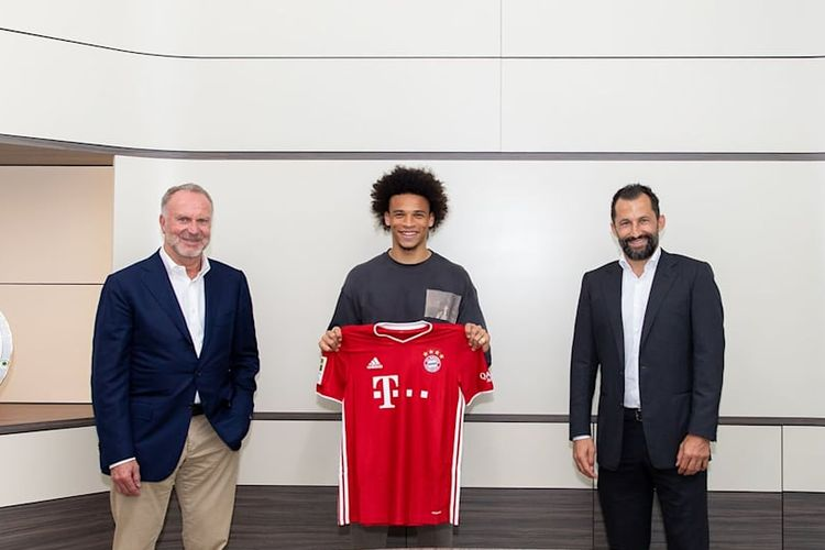 Leroy Sane resmi bergabung dengan Bayern Muenchen.