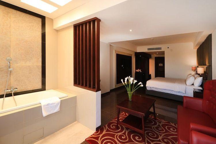 Ilustrasi hotel syariah - Tipe kamar Honeymoon di hotel Grand Dafam Rohan Jogja.