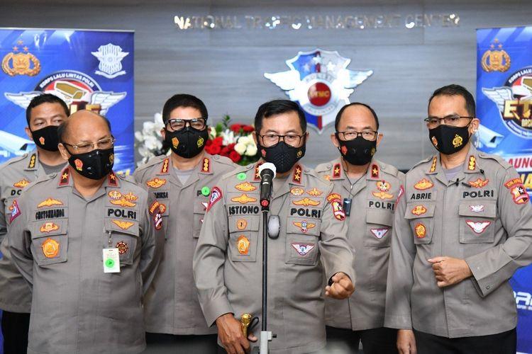 Kakorlantas Polri Irjen Pol Istiono dalam peresmian electronic traffic law enforcement (ETLE)