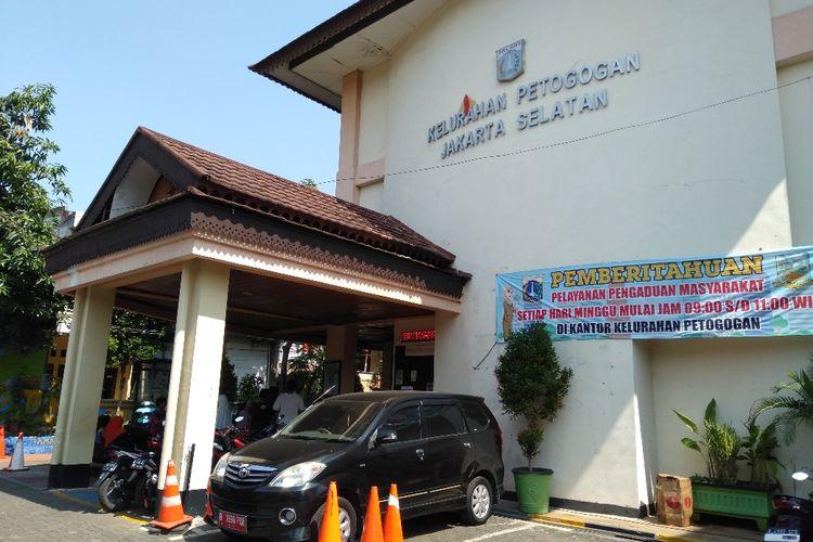Kantor Kelurahan Petogogan, Kebayoran Baru, Jakarta Selatan, Jumat (31/5/2019)
