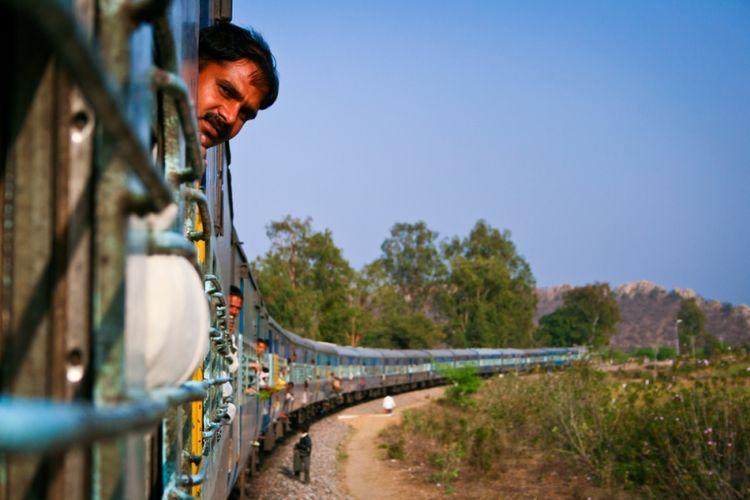Ilustrasi kereta di India. (Shutterstock)