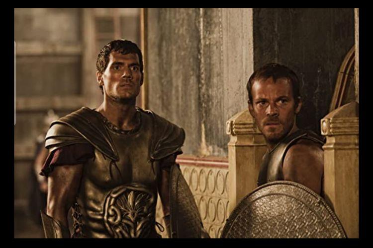 Stephen Dorff dan Henry Cavill dalam film Immortals (2011)