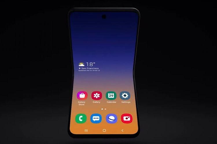 Samsung memamerkan rancangan Galaxy Fold generasi berikutnya.