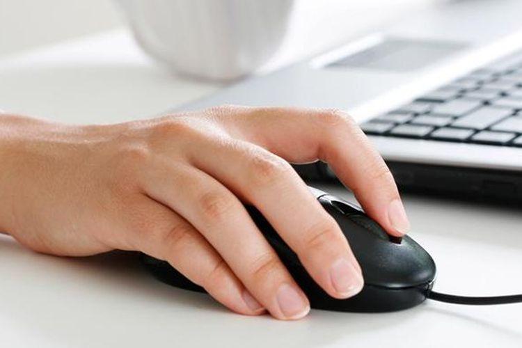Ilustrasi mouse komputer