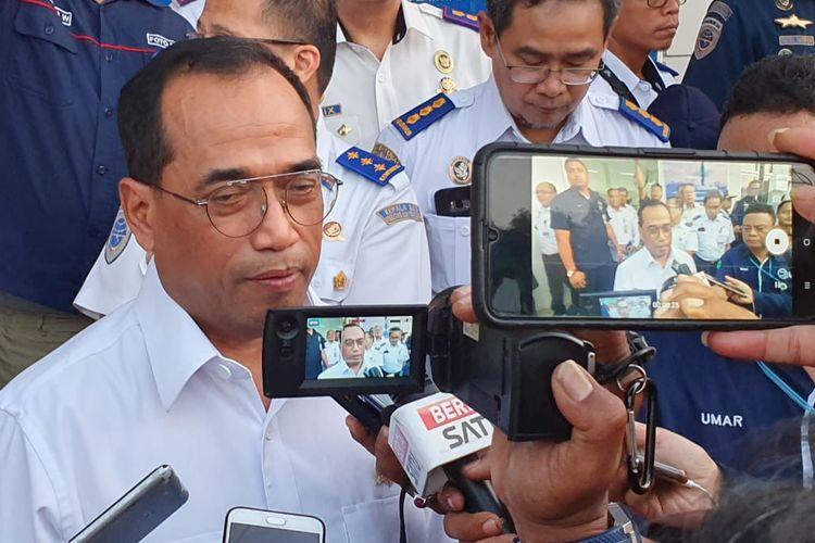 Menteri Perhubungan Budi Karya Sumadi di Balikpapan, Kalimantan Timur, Kamis (19/9/2019).