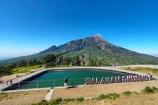 Embung Manajar di Boyolali yang Instagramable Berlatar Gunung Merapi