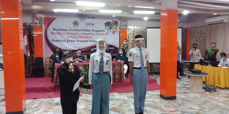 Kegiatan seleksi calon anggota Pasukan Pengibar Bendera Pusaka (Paskibraka) 2021 di Jawa Tengah.