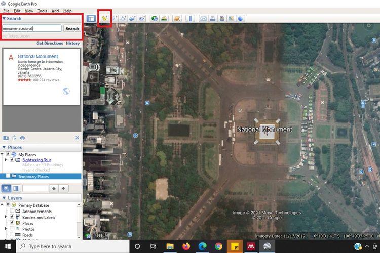 Cara menentukan lokasi di Google Earth