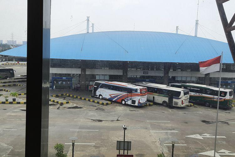 Terminal Terpadu Pulo Gebang di Jakarta Timur. Foto diambil pada Selasa (13/4/2021).