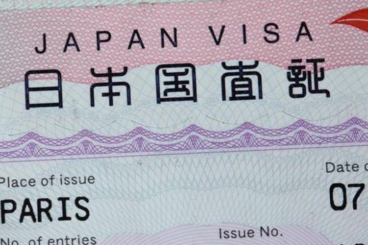 Ilustrasi visa Jepang.
