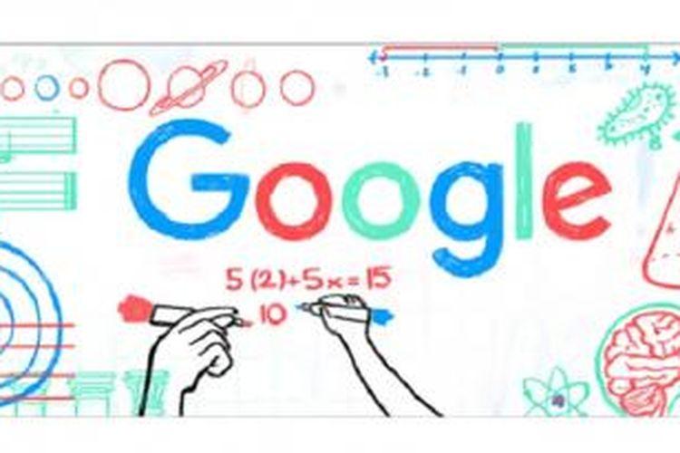 Google Doodle memperingati Hari Guru Nasional 2015