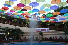Payung Warna-Warni Hiasi di TPO Kota Tua Jakarta