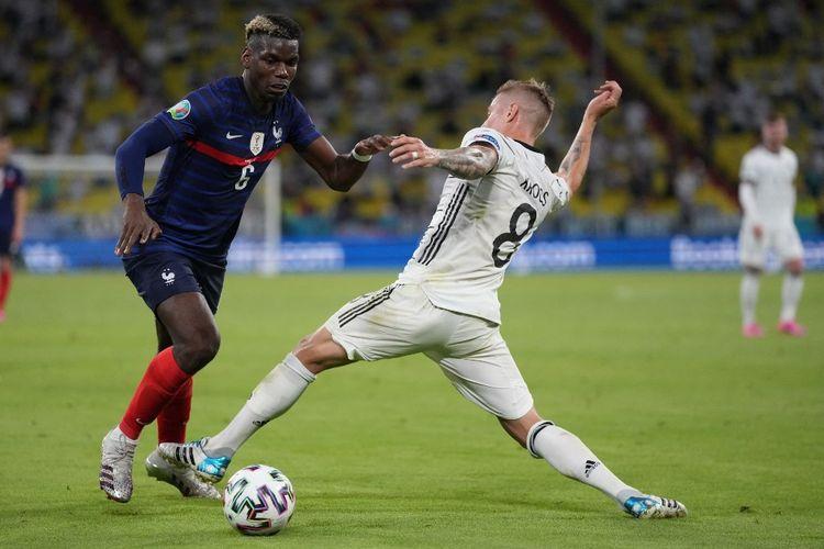 UEFA memilih Paul Pogba sebagai Man of the Match atau pemain terbaik laga Timnas Perancis vs Timnas Jerman di Grup F Euro 2020 pada Rabu (16/6/2021) dini hari WIB.