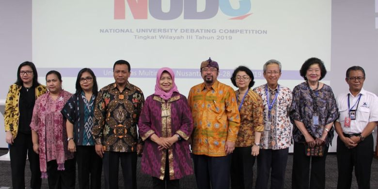 LLDikti Wilayah III menggelar kompetisi National University Debating Championship (NUDC) yang berlangsung di kampus UMN, Serpong, Tangerang, Banten dari 26 hingga 28 Juli 2019.