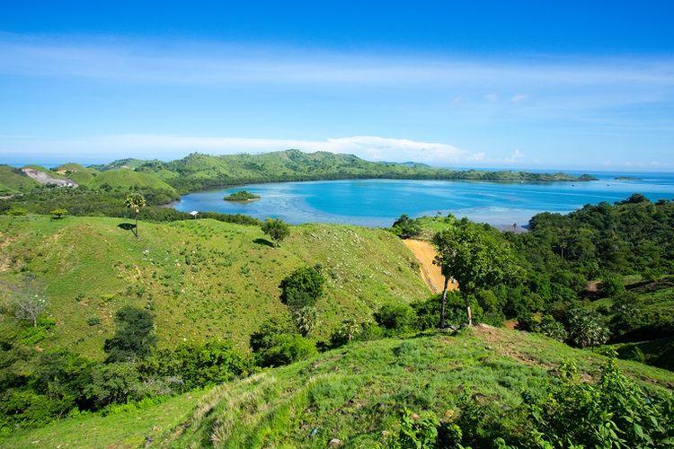 Ilustrasi Nusa Tenggara Timur - Bukit Cinta, Labuan Bajo.