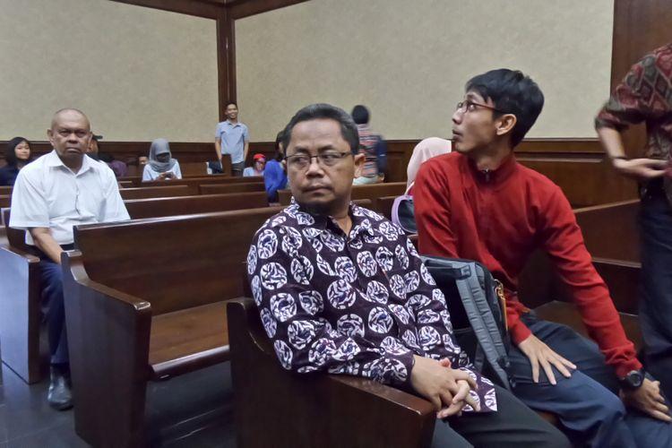 Auditor Utama Keuangan Negara III BPK, Rochmadi Saptogiri, di Pengadilan Tipikor Jakarta, Rabu (25/10/2017).