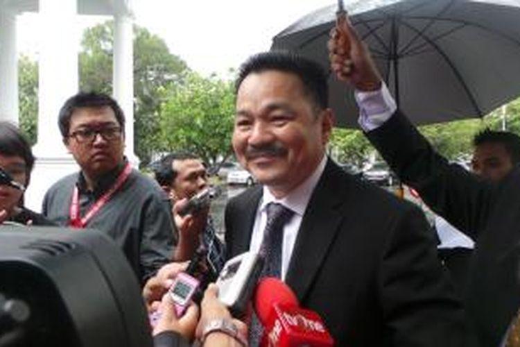 Wakil Ketua Umum PKB Rusdi Kirana saat akan dilantik sebagai anggota Wantimpres di Istana Negara, Jakarta, Senin (19/1/2015).