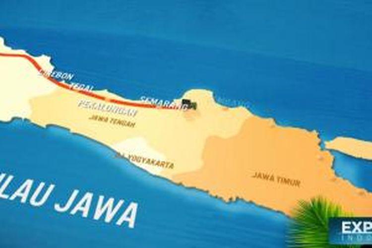 Peta Jalur Pantura.